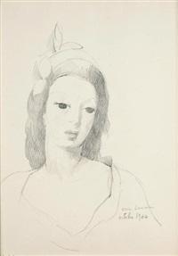 portrait de jeune fille by marie laurencin
