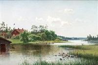 hus vid sjö by harald (sten h.) torsslow