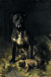 a doting mother by vilhelm theodor fischer