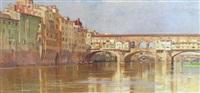 the ponte vecchio, florence by francesco raffaello santoro