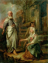 elijah and the widow of zarephath by jacob van spreeuwen
