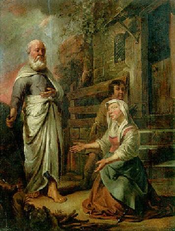 elijah and the widow of zarephath by jacob van spreeuwen