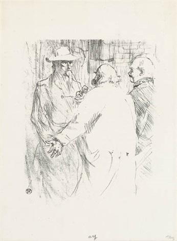 ballade de noël (+ clemenceau à busk, 1897, smllr; 2 works) by henri de toulouse-lautrec