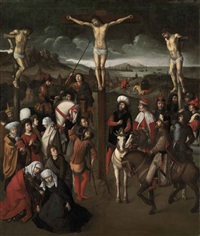 the crucifixion by dieric bouts the elder