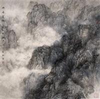 幽峰云树 (landscape) by liu xun