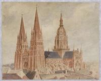 vue d'une cathédrale by gabriel auguste ancelet