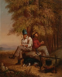 habitants and their dog by william raphael