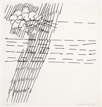 1. untitled; 2. untitled (2 works) by itzhak danziger