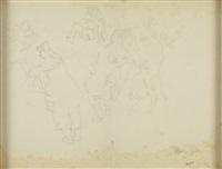 filles et enfants (studies) (double-sided) by jules pascin