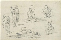 sketches of indian figures by george chinnery