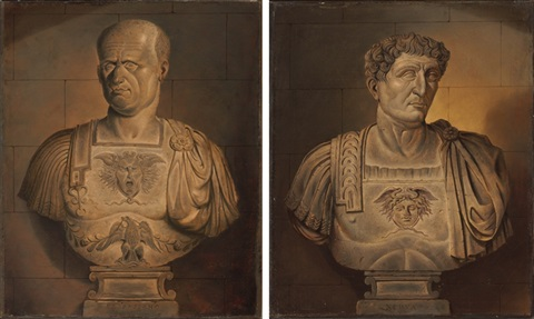 bust of vespasian bust of nero pair by sir james thornhill