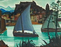 le port de collioure by albert droesbeke