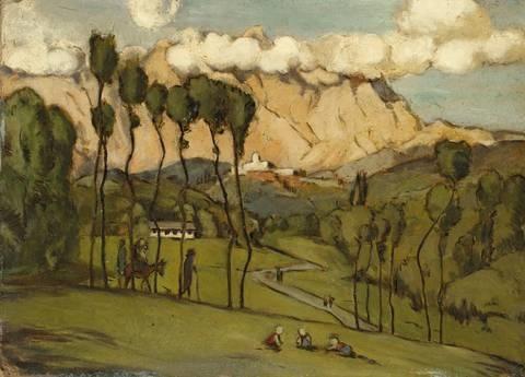 die berge von carrara by hans thoma