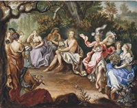 apollo and the muses on parnasssus by franz xavier ludwig hohr