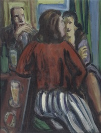 twee vrouwen aan de bar - two women at the bar by herbert fiedler