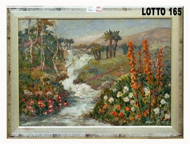 paesaggio con fiori by carlo aimetti