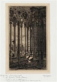 la galerie notre-dame by charles meryon
