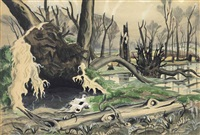swamp in spring by charles ephraim burchfield