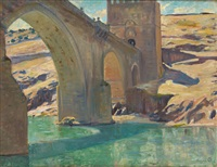 pont saint-martin, tolède by pierre paulus