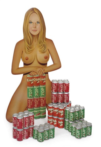 sculpture for teenage boys blonde with beer disguised as soda mixed case by pruitt and early