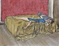 femme étendue sur un lit by francis gruber