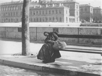 clochards along the seine and on the streets of paris by louis vert