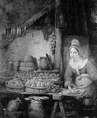 la marchande des fruits by jean baptiste van eycken
