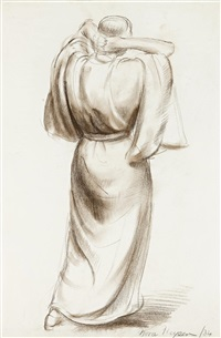 figure in a robe by nora heysen