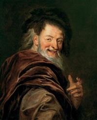 portrait de démocrite by charles-antoine coypel