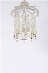 hanging lamp by barovier & toso (co.)
