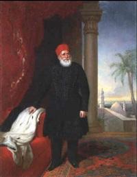 portrait de mehemet-ali, pacha du caire et vice-roi     d'egypte, (1796-1849) by thomas brigstocke
