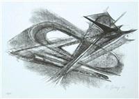 composition (+ figur; 2 works) by rudolf belling