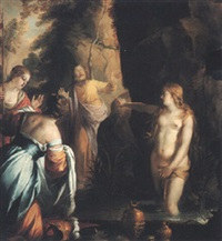 tiresias struck blind by minerva by johann hulsmann