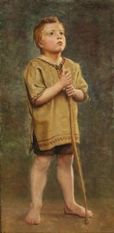 boy with a bow, study for ansgar christening the danes by wenzel ulrik tornoe
