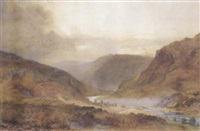 an angler by a stream by charles davidson