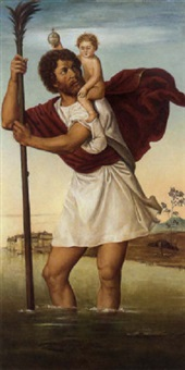 saint christopher by giovanni battista cima da conegliano