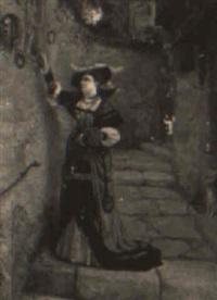 kvinna i trappgr,nd by lionel charles henley