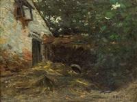 農舍一隅 (farmhouse) by alfred théodore joseph bastien