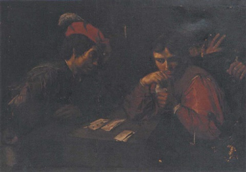 card sharps by jean valentin de boulogne