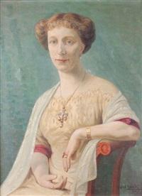 portrait d'élégante by gabriel moiselet