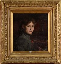 portrait de jeune fille by pierre (pieter) oyens