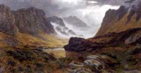 the larig pass, looking towards braemar, inverness-shire by henry w. henley