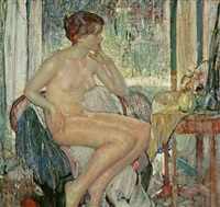 seated nude by richard edward miller