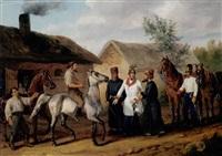 österreichische kürassiere, pferdenankauf in galizien by carl adolf heinrich hess
