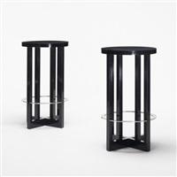 high stools (pair) by richard meier