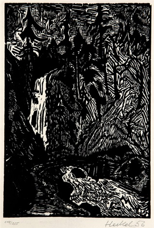 sturzbach by erich heckel
