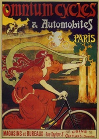 omnium cycles & automobiles, paris by posters: sports - cycling