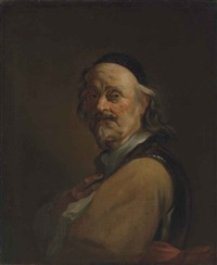 portrait of the artist in a breastplate and a black cap by dutch school (18)