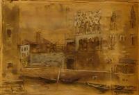 canale a venezia (+ molo di san marco; 2 works) by giorgio valenzin