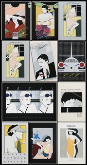 the first of the editions (33 works) by patrick nagel
